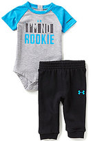 Under Armour Baby Boys Newborn-12 Months I'm No Rookie Color Block Jersey Bodysuit & Solid French Terry Pants