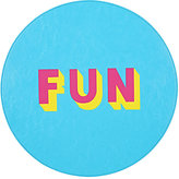 "Lisa Perry Reversible ""Fun"" Circular Placemat"