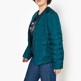 La Redoute Collections Plus Lightweight Padded Bomber Jacket with Pockets