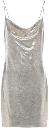 Alice + Olivia Harmony Lame Mini Slip Dress