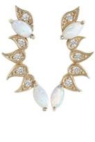 HEATHER HENRY Opal Embellished Ear Climbers