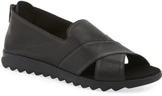 Sesto Meucci Tessa Perforated Leather Comfort Sandals, Black