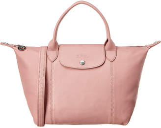 Longchamp Le Pliage Cuir Small Leather Short Handle Tote