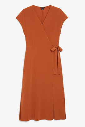 Monki Sleeveless wrap dress