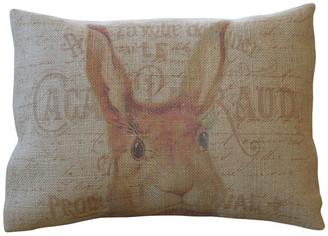 "Polkadot Apple Pillows French Rabbit Head Burlap Pillow, 12""x16"""