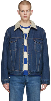 Levi's Clothing Blue Denim Sherpa 1967 Type III Jacket