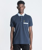 Lyle & Scott Fabric Mix Collar Polo Shirt