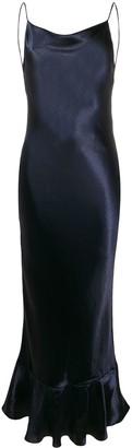 Saloni Fishtail Hem Slip Dress