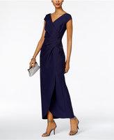 Alex Evenings Compression Faux-Wrap Gown