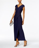 Alex Evenings Petite Ruched A-Line Gown