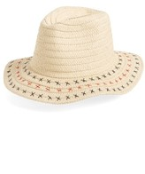 David & Young Women's Stitched Straw Panama Hat - Beige
