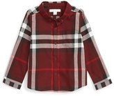 Burberry Boy's Mini Fred Check Flannel Woven Shirt