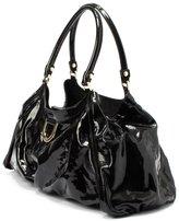 Gucci Pre-owned: black patent leather d-ring shoulder bag