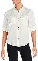 Ivanka Trump Double Button-Front Shirt