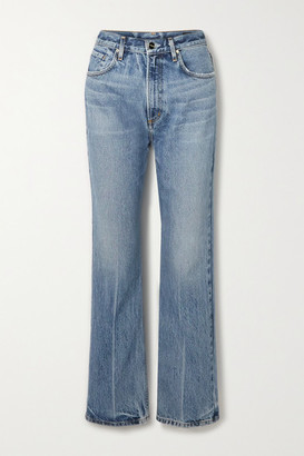 Gold Sign The Martin High-rise Straight-leg Jeans - Light denim