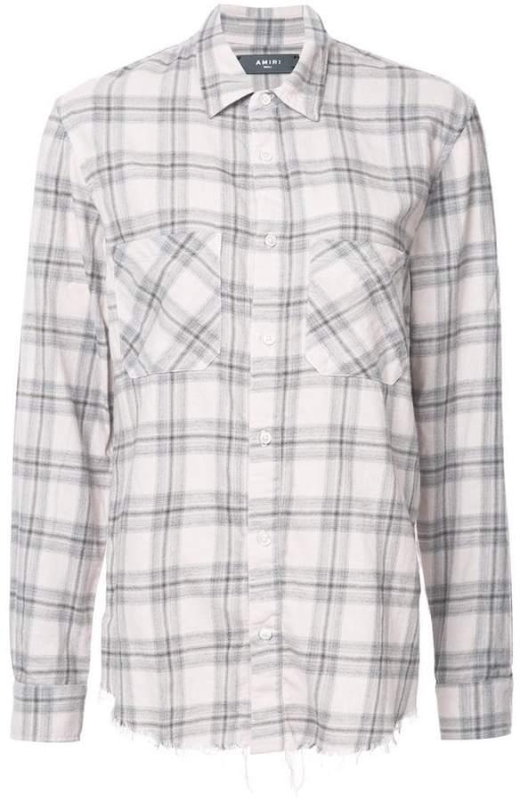 Amiri faded plaid flannel shirt