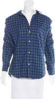 Frank And Eileen Plaid Button-Up Top w/ Tags