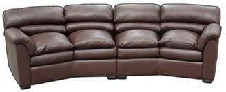 Omnia Leather Canyon Leather Curved Sofa Omnia Leather