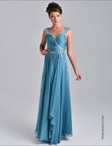 Nina Canacci - 7405 Dress in Teal