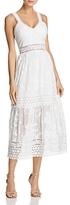 Aqua Embroidered Mesh & Lace Midi Dress - 100% Exclusive