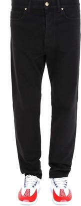 Versace Logo Patch Straight-Leg Jeans
