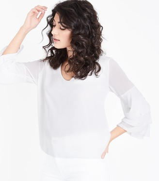 New Look Mela Pearl Tiered Sleeve Blouse