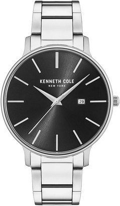 Kenneth Cole NY Men's Stainless Steel Black Dial Watch