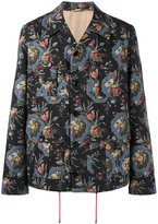 Gucci Lion print military jacket - men - Silk/Cotton/Viscose - 44