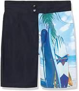 RED WAGON Boy's Photoprint Border Swim Shorts