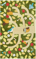 Jaipur Living Rugs Youth Floral and Leaves Pattern Hand-Tufted Rug