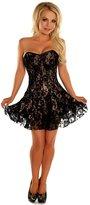 DaisyCorsets Daisy Corsets Lavish Tan Lace Corset Dress
