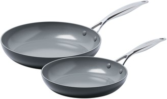"Green Pan Valencia Pro 10"" & 12"" Ceramic Nonstick Fry Pan Set"