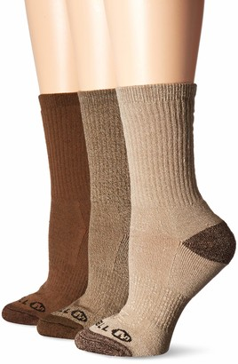 Merrell womens 3 Pack Cushioned Performance Hiker (Low Cut/Quarter/Crew) Casual Sock