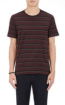 Rag & Bone Men's Striped Cotton T-Shirt-BURGUNDY