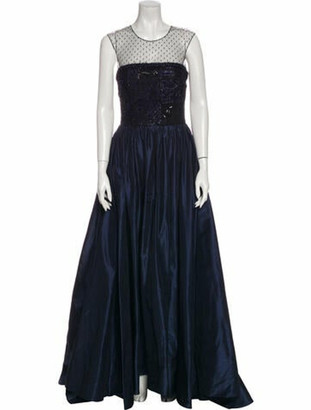 Oscar de la Renta 2016 Long Dress Blue