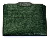 Atelier Hiva Double Card Holder Metallic Green & Metallic Anthracite