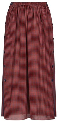 Fendi Plaid Button Silk Skirt