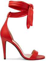 Off-White Bow Leather Sandals - Red