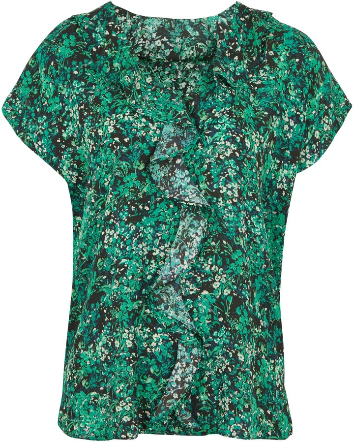 Thumbnail for your product : New Look Floral Ruffle Front Blouse