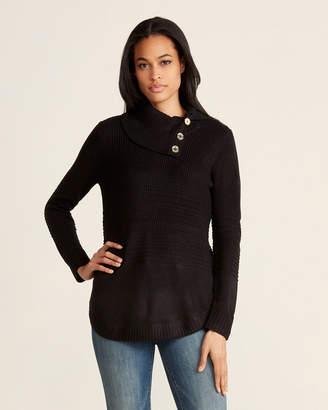 Calvin Klein Long Sleeve Split Cowl Neck Sweater