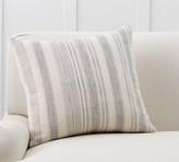 Pottery Barn Hawthorn Stripe Sherpa Back Pillow Cover