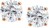 Giani Bernini Cubic Zirconia Stud Earrings in 18k Rose Gold-Plated Sterling Silver, Only at Macy's