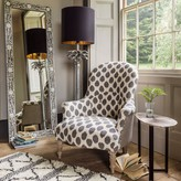 Graham and Green Alfred Black And White Ikat Print Armchair
