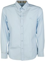 Burberry House Check Collar Embroidered Chest Logo Shirt