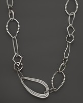 """Lagos Sterling Silver Multi Texture Caviar Link Necklace, 24"""""""