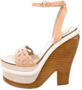 Nina Ricci Leather Platform Sandals