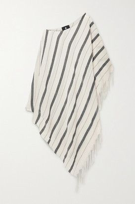 Su Paris Samana Fringed Striped Cotton-gauze Kaftan