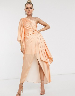 Significant Other caspian one shoulder printed maxi dress