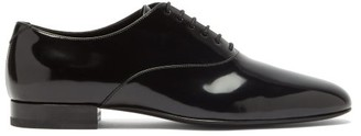 Saint Laurent Smoking Patent-leather Oxford Shoes - Black