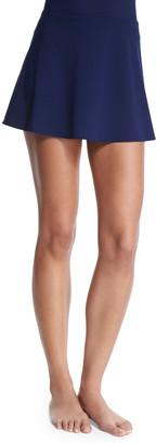 Karla Colletto Flared Swim Skirt, Navy